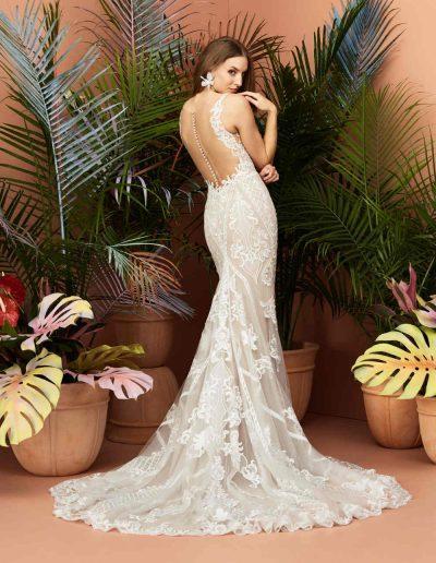 Viola Wedding Dress Back