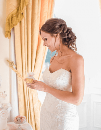 Honeysuckle wedding dress side close up
