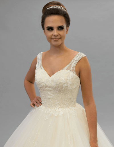 primrose champagne wedding dress from Beautiful and Timeless 2021 collection