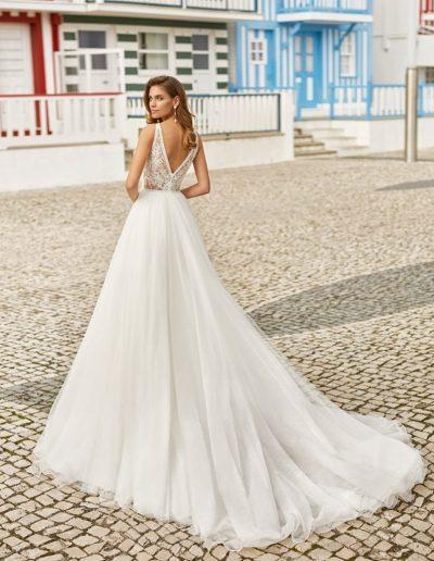 rosa clara haniel wedding dress back