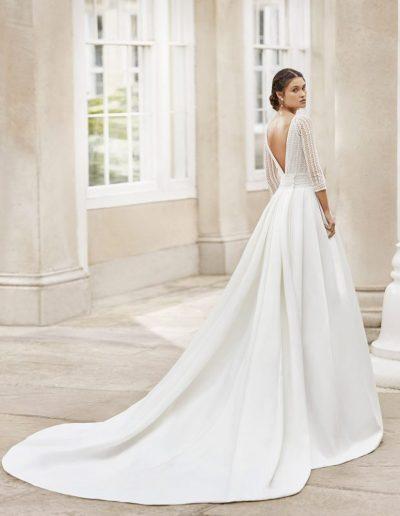 rosa clara toscana wedding dress back