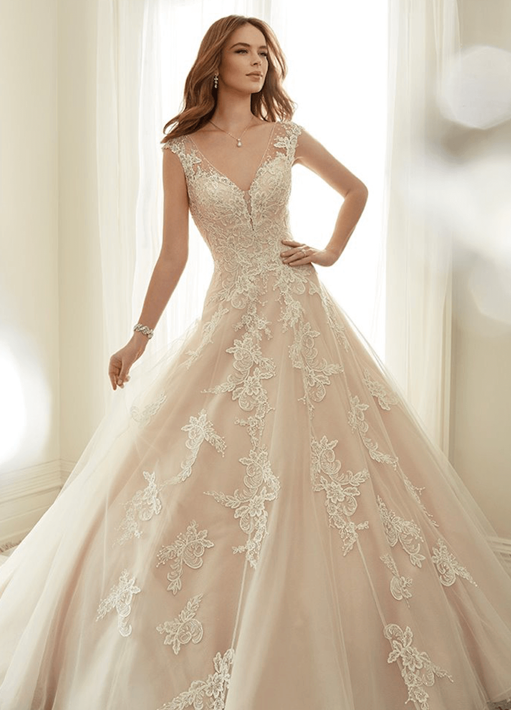 Estelle wedding dress front from the Sophia Tolli 2021 collection