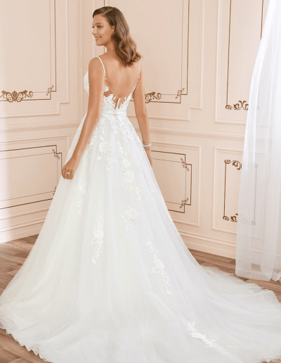Aurora wedding dress back from the Sophia Tolli 2021 collection