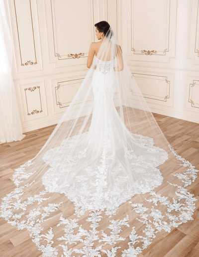 Reba Wedding Dress Back Train from the Sophia Tolli 2021 collection