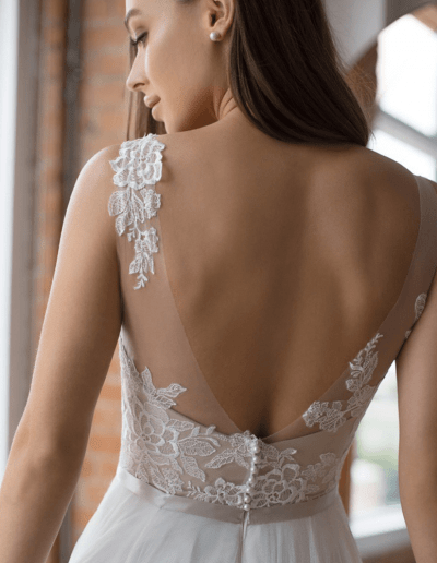 devine wedding dress back from Wtoo By Watters