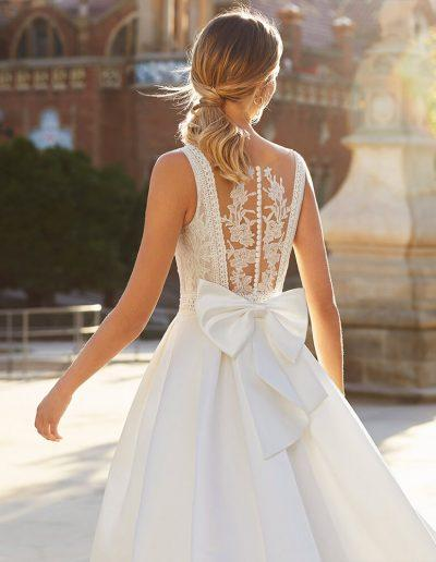 Luna Novias Yulia Wedding Dress Detailed Back from the 2021 Collection