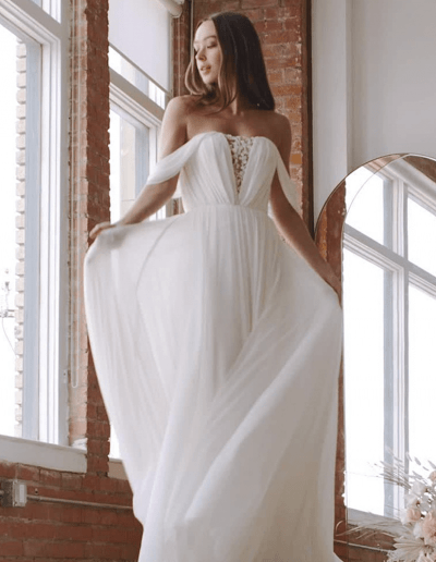 Ryder Front Detailed Wedding Dress by Wtoo By Watters