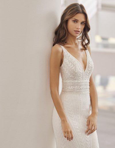Neila modern wedding dress from Rosa Clara 2022 Collection