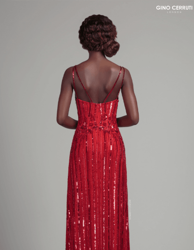 Hand beaded style, with beading in the waist for definition. Complete with spaghetti straps.